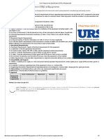 User Requirement Specification (URS) of Equipments