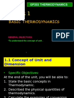 Chapter 1 Basic Thermodynamics