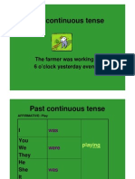English - The Past Continuous Form And Use