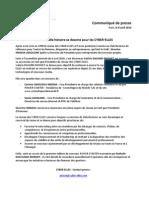 Commmuniqué de presse Assemblée Générale avril 2010