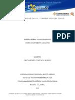 Ensayo aplicabilidad del Codigo sustantivo del trabajo.doc