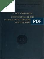 Einführung in die Physiologie der Einzelligen (Protozoen)