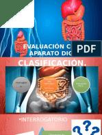 Evaluación de aparato digestivo asociado a enfermería