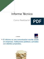 Como hacer un Informe Técnico