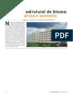 ORÇAMENTO REAL - Alvenaria Estrutural de Blocos Sílico-calcários x Concreto