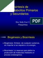 2.Biosintesís de Metabolitos Primarios y Secundarios.2015