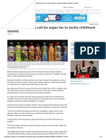 British Lawmakers Call for Sugar Tax to Tackle Childhood Obesity _ Reuters