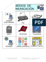 Bingo Medios Comunicacion Pictos 3x3