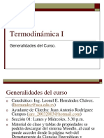 Termodinámica I