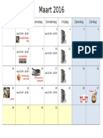 kalender maart 16