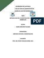 Conceptos Generales de Metodología de La Investigación