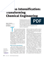 Process Intensification Transforming Chemical Engineering