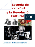 La Escuela de Frankfurt y La Revolución Cultural