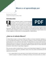 El Método Moore o El Aprendizaje Por Indagación