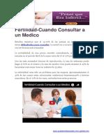 Fertilidad-Cuando Consultar a Un Medico