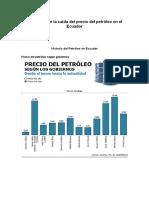 Incidencia de La Caída Del Precio Del Petróleo en El Ecuador