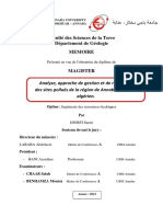 Analyse Approche de Gestion Et de Réhabilitation Des Sites Pollués de La Annaba Nord-Est Algerien.