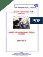 Leccion 3 Gerencia Obras Civiles