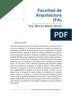 2_informe_fa_2014 de la facultad de arquitectura por el director de esta casa de estudios unam