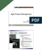 Agile Product Management Software Development Best Practices 2005