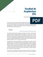 4.1-FA reglamento de de Arquitectura. Sae. Fa. Unam
