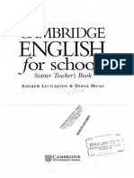 Cambridge English for Schools Starter Teacher Book