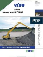 Catálogo de Excavadora Hidráulica Super Larga Pc130 a Pc350 Komatsu