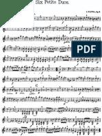 Pleyel Six Petits Duos Violin 1