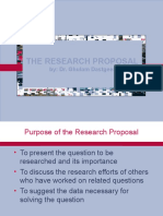 BRM Lecture 3 Research Proposal