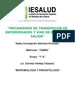 Mecanismos de Transmisión de Enfermedades... Microbiología.