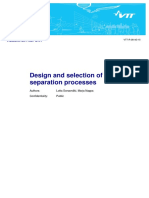 Design and selection of separation processes - Technical Report (Finland)