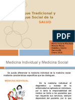 enfoque tradicional y enfoque social de la salud