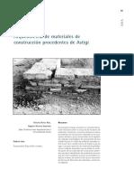 Arqueometría de Materiales de Construcción Procedentes de Astigi