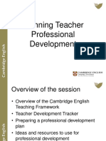 Planning Teacher Professional Development Webinar