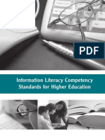 il competency standards for higher education