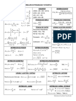 Formulario Probabilidad y Estadística