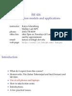Optimization models and applications