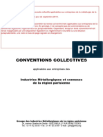 Conventions Collectives de La Metallurgie EA APF