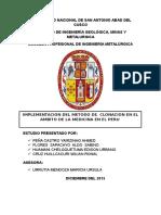 Implementacion Del Metodo de Clonacion en El Ambito de La Medicina en El Peru