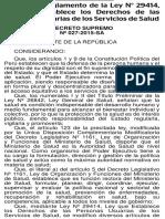 DECRETO SUPREMO Nº 027-2015-SA