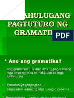 Ang Gramatika at Ang Guro
