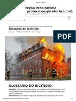 Glossário Do Incêndio