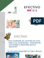 El efectivo contabilidad