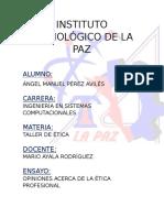 Ensayo de Ética (Ángel Pérez)