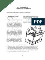 La Pedagogia en El Curriculum Academico