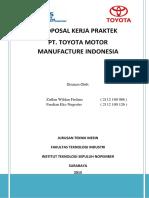 Proposal Kerja Praktek Toyota