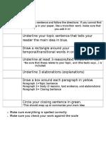 opinion checklist
