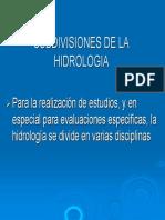 Doc 5 Hidrologia Subdivisiones