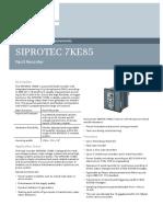 Siprotec 7ke85 v7 Profile