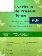 Use Verbs in Simple Present Tense